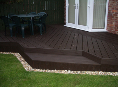 Garden decking ideas photos modern home exteriors for Garden decking images uk